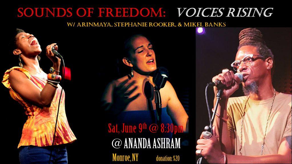 CONCERT w/ ArinMaya & Mikel Banks @ Ananda Ashram   Monroe   New York   United States