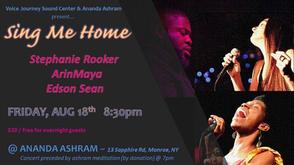 CONCERT w/ ArinMaya & Edson Sean @ Ananda Ashram | Monroe | New York | United States